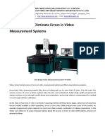Measurement Eliminate Errors in Video Measurement Systems