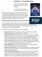 PMP Formulas and Calculations - The Complete Guide
