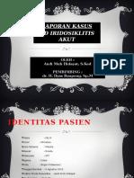Laporan Kasus Iridosiklitis AMH