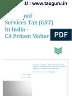 GST in India e Book CA Pritam Mahure