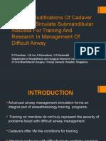 Surgical Modifications of Cadaver Heads to Simulate Submandibular