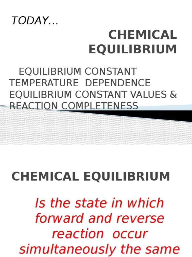 Chemical Equilibrium | Chemical Equilibrium | Chemical Reactions