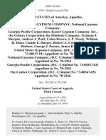 United States v. United States Gypsum Company, National Gypsum Company, Georgia Pacific Corporation, Kaiser Gypsum Company, Inc., the Celotex Corporation, the Flintkote Company, Graham J. Morgan, Andrew J. Watt, Colon Brown, J. P. Nicely, William H. Hunt, Claude E. Harper, Robert A. Costa, William D. Herbert, George J. Pecaro, James D. Moran United States Gypsum Company, (d.c. Criminal No. 73-00347-01) in No. 78-2263 National Gypsum Company, (d.c. Criminal No. 73-00347-02) in No. 78-2264 Georgia-Pacific Corporation, (d.c. Criminal No. 73-00347-03) in No. 78-2265 the Celotex Corporation, (d.c. Criminal No. 73-00347-05) in No. 78-2266, 600 F.2d 414, 3rd Cir. (1979)
