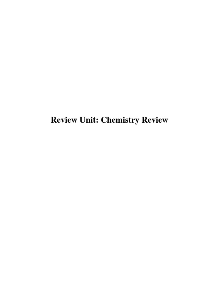 Chemistryreviewpdf scientific method chemical elements biocorpaavc Choice Image