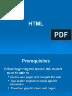 HTML Lesson 1