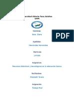 Trabajo Final de Recursos Didacticos y Tecnologicos en La Educacion basica