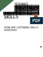 Assessing Listening and Speaking Skills