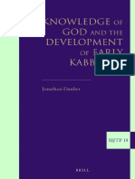 Dauber-Knowledge of God and the Development of Early Kabbalah