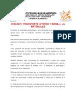Transporte Interno y Manejo de Materiale