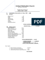 financial report july