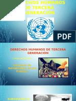 Derechos Humanos de Tercera Generación