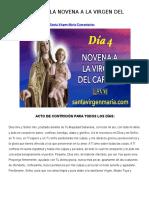Cuarto Dia de La Novena a La Virgen Del Carmen