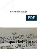 Layout and Design