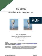 Nutzerhinweise ISO 26000 (DIS Basiert) 2010-04-22