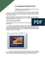 Lectura 8 - Características y Ventajas de PowerPoint 2010