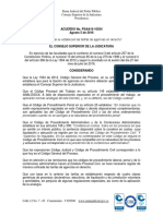 Acuerdo CSJ No. PSAA16-10554 del 5 de Agosto de 2016