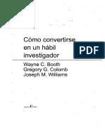 Cómo Convertirse en Un Hábil Investigador - Booth, Colomb and Williams