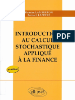 Damien Lamberton, Bernard Lapeyre-Introduction Au Calcul Stochastique Appliqué à La Finance-Ellipses Marketing (2012)
