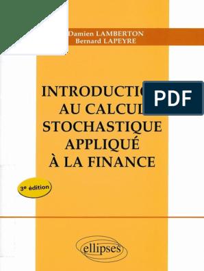 CALCUL TÉLÉCHARGER APPLIQUÉ À FINANCE INTRODUCTION STOCHASTIQUE AU LA