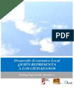 Desarrollo Económico Local. QUIÉN REPRESENTA A LOS CIUDADANOS