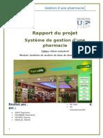 Rapport Gestion Pharmacie
