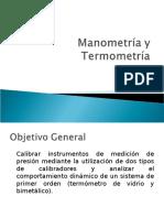 Objetivos Manometria y Termometria