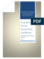 Transformer VectTransformer Vector Group Test Conditionsor Group Test Conditions