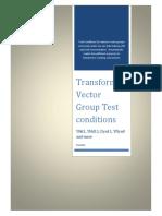 Transformer VectTransformer Vector Group Test Conditionsor Group Test Conditions