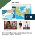 Ubicacion de Los Cuatro Pueblos Dominantes en Guatemala