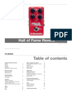 Tc Electronic Hall of Fame Reverb Manual English