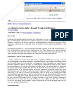 Livestock Sector in India - Recent Trends and Progress