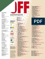 Programme Off 2009