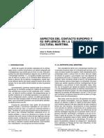 ASPECTOS DEL CONTACTO EUROPEO Y SU INFLUENCIA EN LA CONFORMAClON CULTURAL MARITIMA.