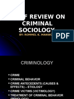 3. Review on Criminal Sociology