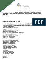 Tutorias Academicas on Line
