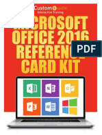 Microsoft office 2016 reference card kit