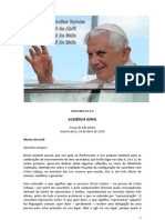 PAPA BENTO XVI Audiências Gerais