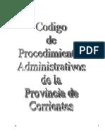 Codigo de Procedimiento Administrativo CORRIENTES