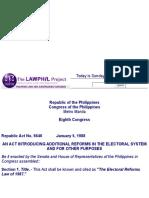 160. Bb Ra 6646 Electoral Reforms