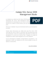 Instalar SQL Server 2008 Management Studio