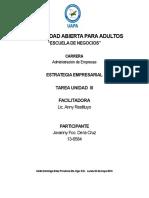 TAREA 3 estrategia empresarial
