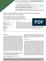 rubrics vs  self-assessment scripts effe-3