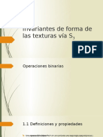 Invariantes de Forma de Las Texturas Vía S3