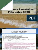 Mekanisme Persetujuan Peta Untuk RDTR