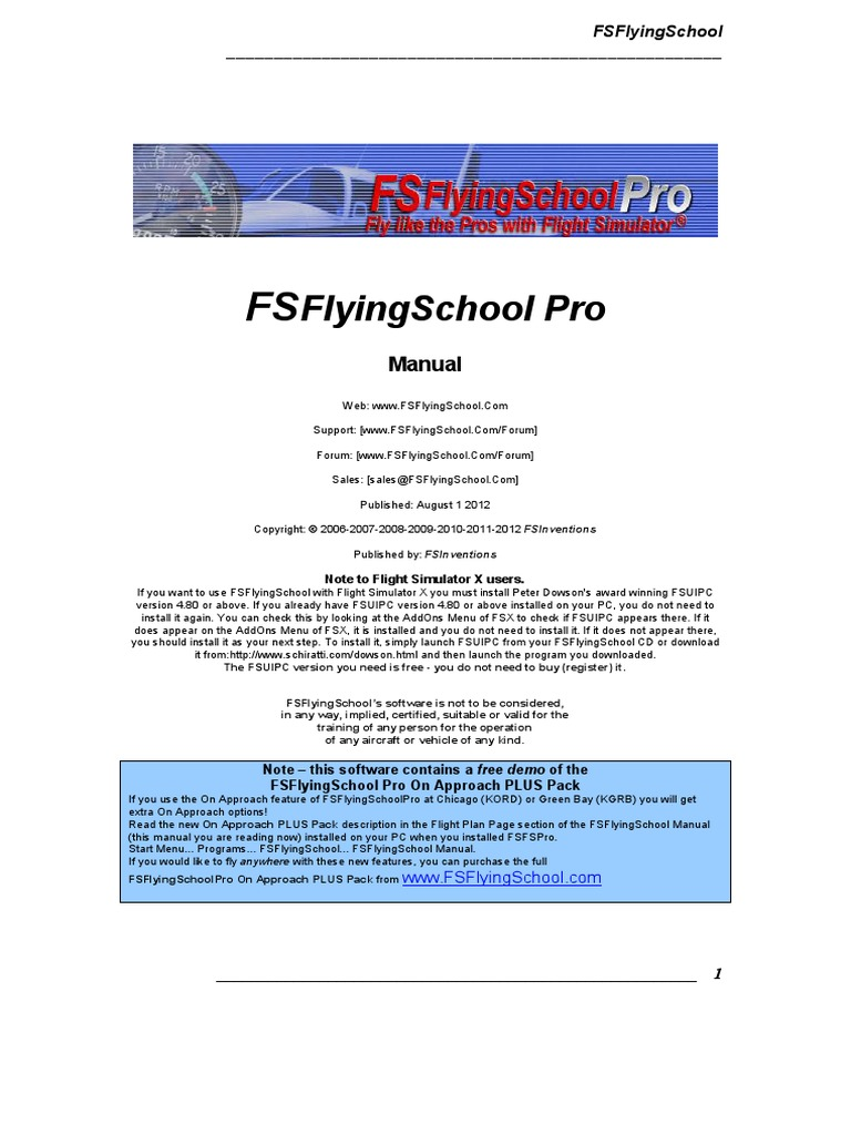 Fs Flying School Manual | Airport | Airplane