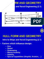 HULL FORM AND GEOMETRY