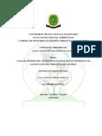 Tasa de Recoleccion de Residuos canton Quevedo, Provincia de Los Ríos.