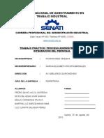 "Proceso Administrativo de Integraciã""n Del Personal"