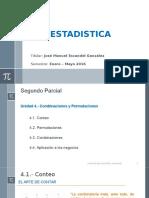 Estadistica Unidad 2 Permutaciones y Combinaciones Version Alumnos