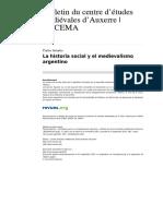 Astarita, C. - La Historia Social y El Medievalismo Argentino